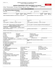 "Form AG-095 ""Arizona Standardized Client Assessment Plan (Ascap)"" - Arizona"