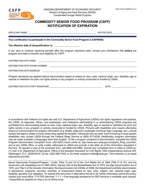 Form HRP-1037A FORPDF  Printable Pdf