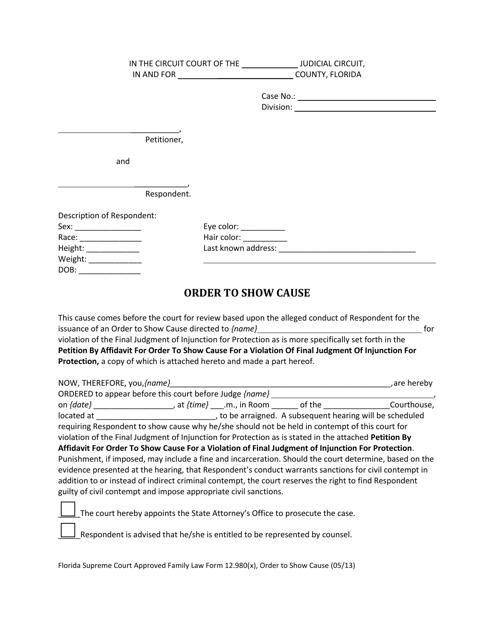 Form 12.980(X)  Printable Pdf