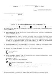 """Form 12.984(A) """"Order of Referral to Parenting Coordinator"""" - Florida"""