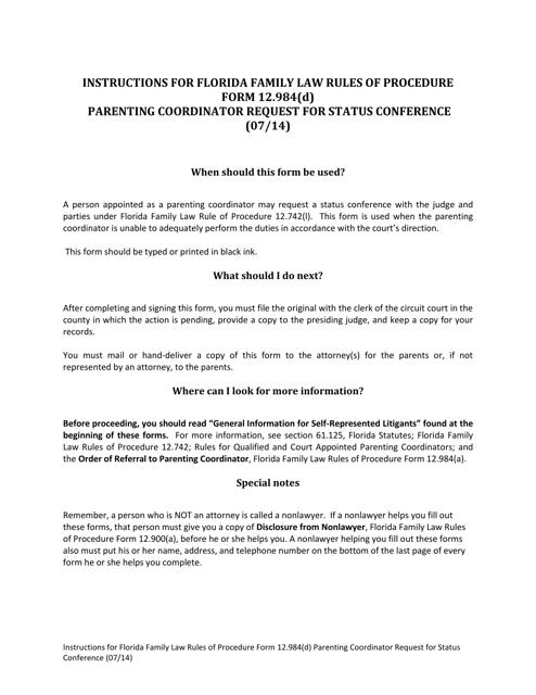 Form 12.984(D)  Printable Pdf