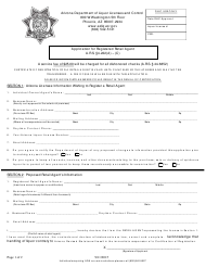 """""""Application for Registered Retail Agent"""" - Arizona"""