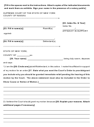 "Form 38 ""Affidavit in Support"" - Nassau County, New York"