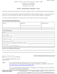 """Ncfc Withdrawal Request Form"" - Nassau County, New York"
