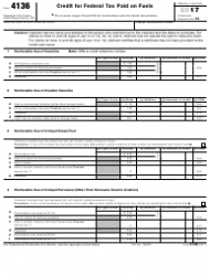 IRS Form 4136 2017 Credit for Federal Tax Paid on Fuels