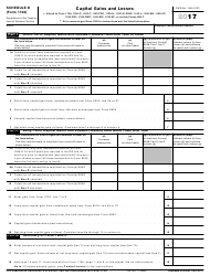IRS Form 1120 2017 Schedule D - Capital Gains and Losses