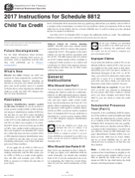Instructions for Schedule 8812 - Child Tax Credit