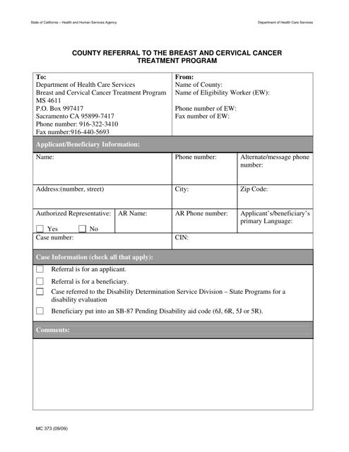 Form MC373  Printable Pdf