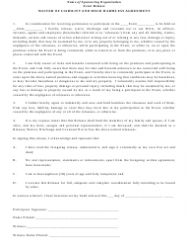 Waiver of Liability and Hold Harmless Agreement Template