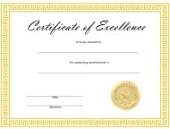 """Certificate of Excellence Template"""
