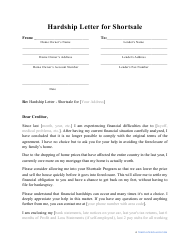 Sample Hardship Letter To Creditors from data.templateroller.com