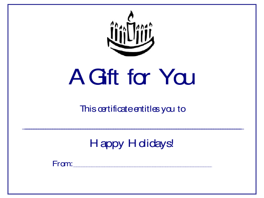 Menorah Gift Certificate Template Download Printable Pdf