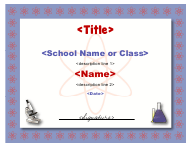 """Science Certificate Template"""
