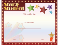 """Star Student Certificate Template"""