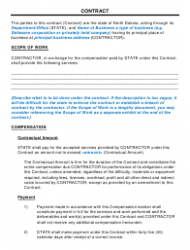 Business Contract Template - North Dakota