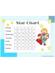 Bob The Builder-styled Star Reward Chart For Kids
