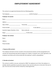 """Employment Agreement Template"""