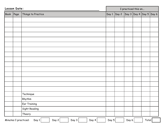 """Student Lesson Sheet Elementary Evaluation Form"" Download Pdf"