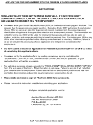 "FAA Form 54972 ""Air Traffic Assistant at-2154-07 (Flight Data Communications Specialist)"""