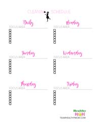 Blank Cleaning Checklist Schedule