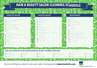 Hair & Beauty Salon Cleaning Schedule Template