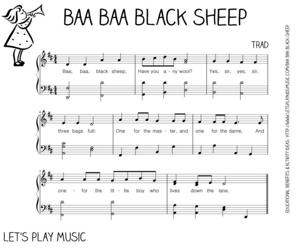 """Baa-Baa Black Sheep Sheet Music"""