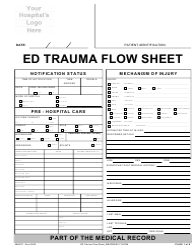 Ed Trauma Flow Sheet Template