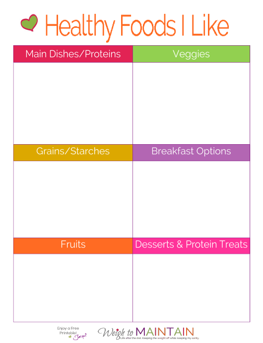 """""""Health Foods Shopping List Template"""" Download Pdf"""