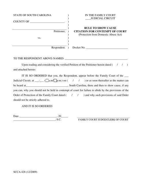 Form SCCA428  Printable Pdf