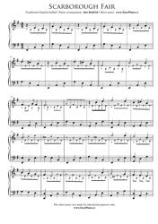 """Scarborough Fair Piano Sheet Music"""