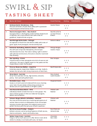 picture relating to Blind Wine Tasting Sheets Printable identified as Wine Tasting Sheets PDF templates. down load Fill and print