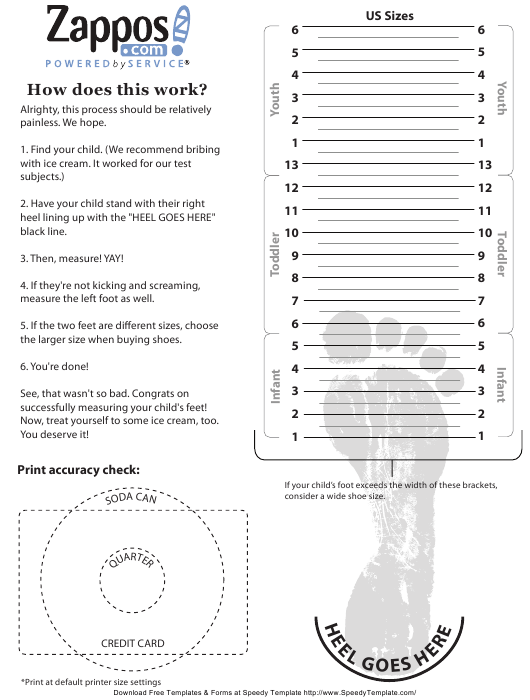 This is an image of Printable Sock Measurement Chart pertaining to brannock device