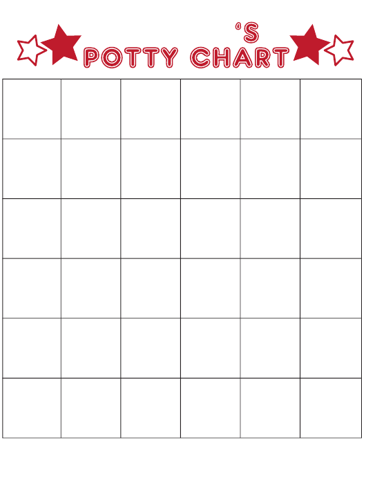 Blank Potty Chart Download Printable Pdf Templateroller