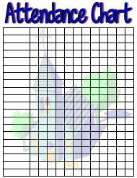 Religious Attendance Chart
