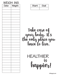 """Weight Tracking Chart Template"""