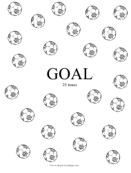 """""""Soccer Practice Chart Template"""""""