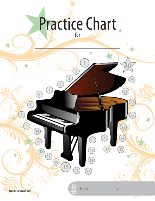"""Piano Practice Chart Template"" Download Pdf"
