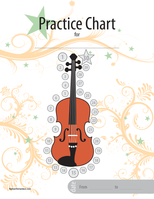 """Violin Practice Chart Template"" Download Pdf"