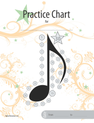 30 Days Music Practice Chart Template