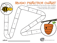 """Music Practice Chart Template - Bumblebee"""