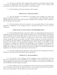 """""""Operating Agreement Template (Single Member Limited Liability Company)"""" - California, Page 3"""