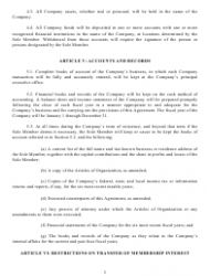 """""""Operating Agreement Template (Single Member Limited Liability Company)"""" - California, Page 4"""