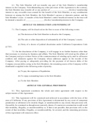 """""""Operating Agreement Template (Single Member Limited Liability Company)"""" - California, Page 5"""