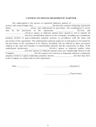 """""""Operating Agreement Template (Single Member Limited Liability Company)"""" - California, Page 7"""