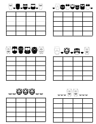 """Music Practice Chart Templates - Owls"""