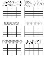 """Musical Practice Chart Template"""