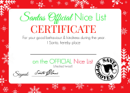 """Santa's Official Nice List Certificate Template"""
