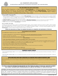 "Form DS-11 ""Application for a U.S. Passport"""