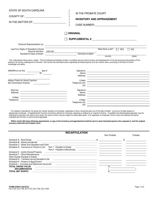Form 350PC  Printable Pdf