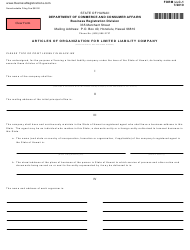 """Form LLC-1 """"Articles of Organization for Limited Liability Company"""" - Hawaii"""